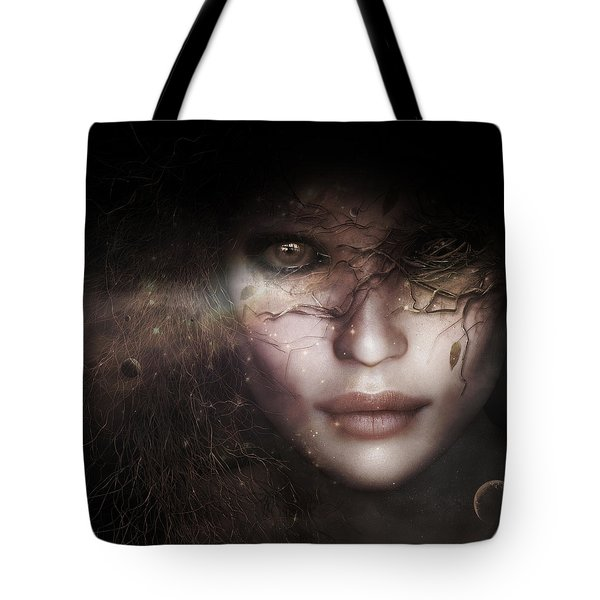 Tote Bag featuring the digital art Gaia Goddess by Shanina Conway