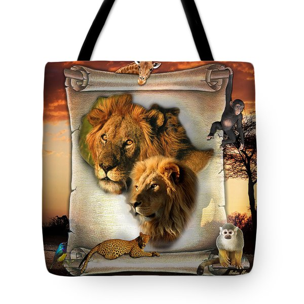 The Lion King From Africa Tote Bag by Nadine May