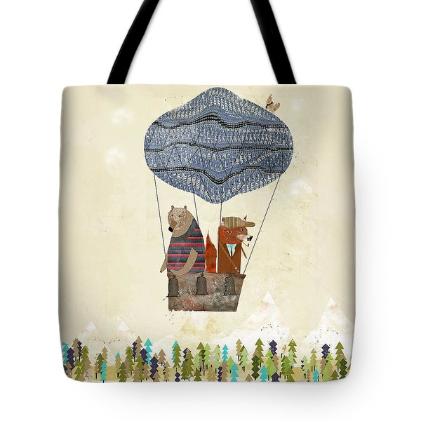 Mr Fox And Bears Adventure  Tote Bag