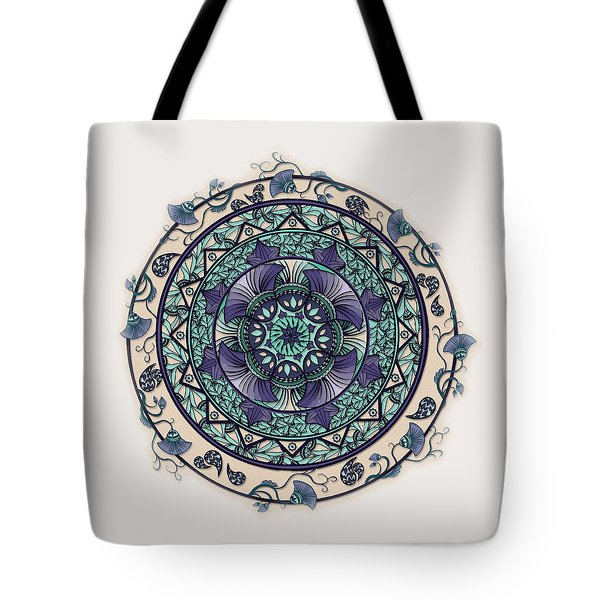 Morning Mist Mandala Tote Bag