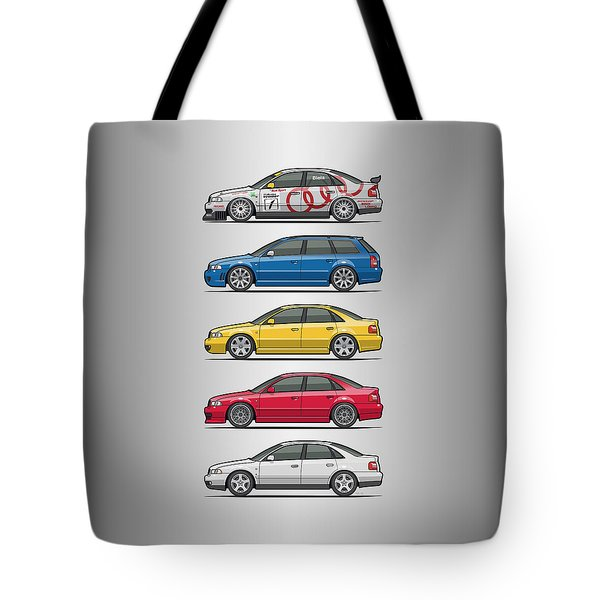 Stack Of Audi A4 B5 Type 8d Tote Bag