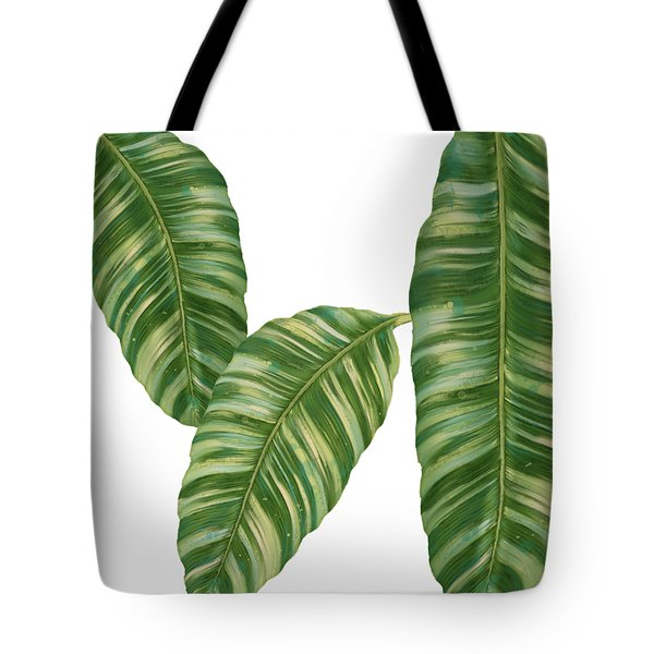 Rainforest Resort - Tropical Banana Leaf  Tote Bag