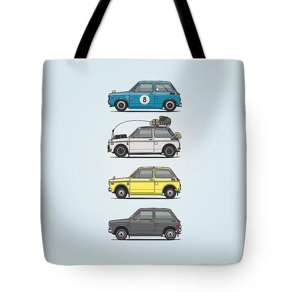 Stack Of Honda N360 N600 Kei Cars Tote Bag