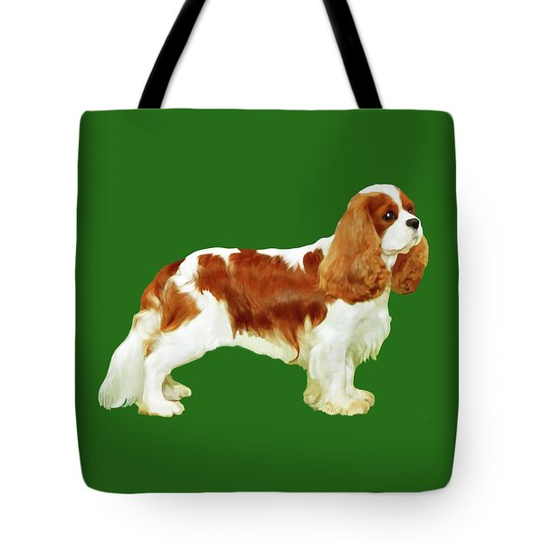 Cavalier King Charles Spaniel Tote Bag by Marian Cates