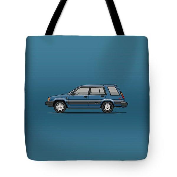Toyota Tercel Sr5 4wd Wagon Al25 Blue Tote Bag