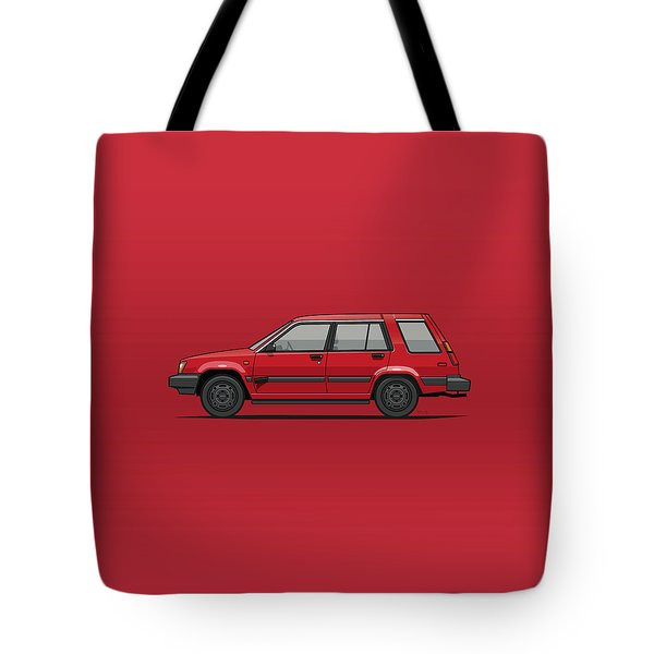 Jesse Pinkman's Crappy Red Toyota Tercel Sr5 4wd Wagon Al25 Tote Bag
