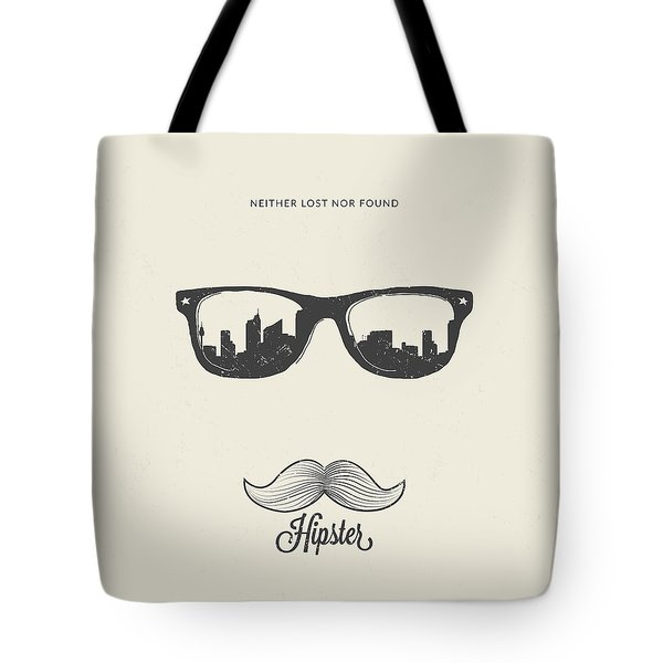 Hipster Neither Lost Nor Found Tote Bag by BONB Creative