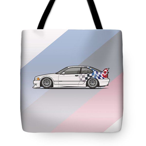Bmw 3 Series E36 M3 Gtr Coupe Touring Car Tote Bag