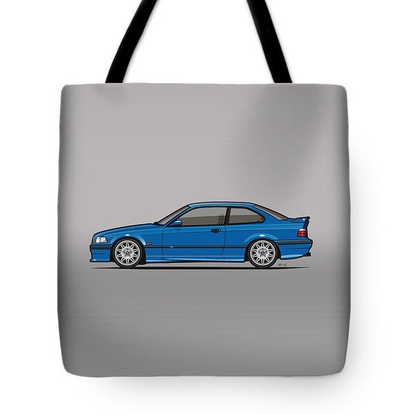 Bmw 3 Series E36 M3 Coupe Estoril Blue Tote Bag