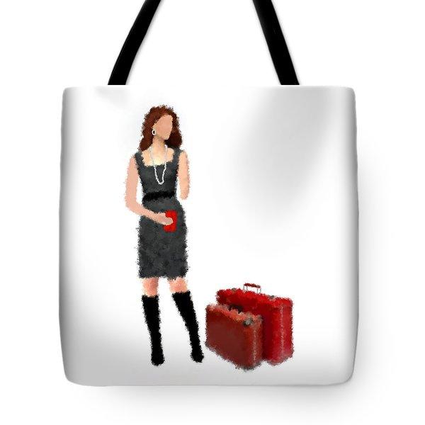 Tote Bag featuring the digital art Melanie by Nancy Levan