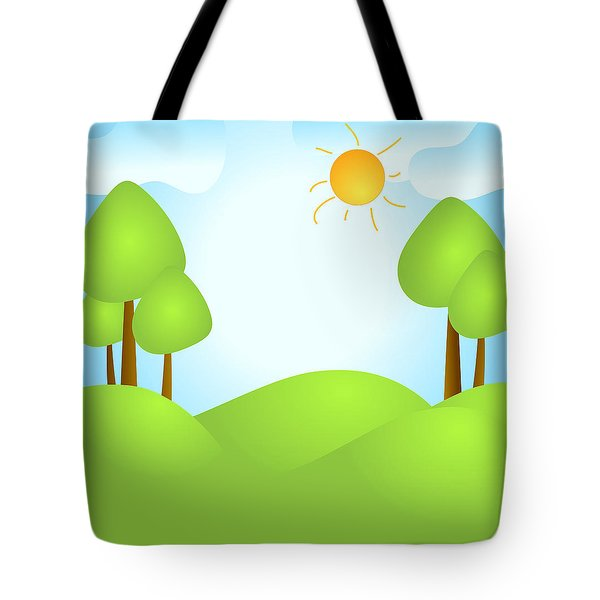 Playful Kid's Spring Backdrop Tote Bag