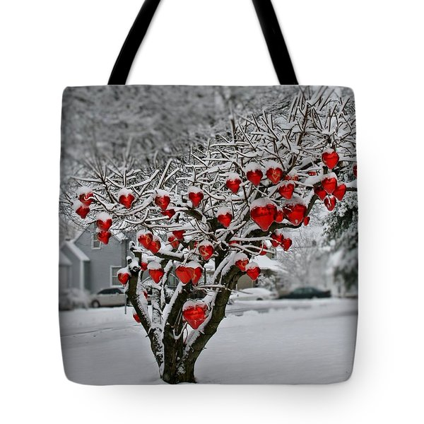 Tote Bag featuring the photograph Enduring Heart by DJ Florek