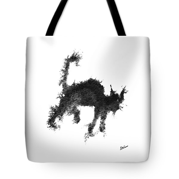 Tote Bag featuring the painting Electricat by Marc Philippe Joly