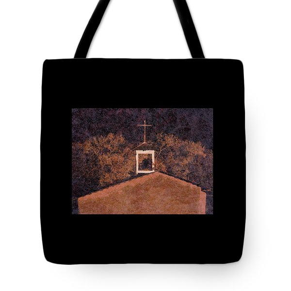 Adobe Church At San Ildefonso Pueblo In Northern New Mexico Tote Bag