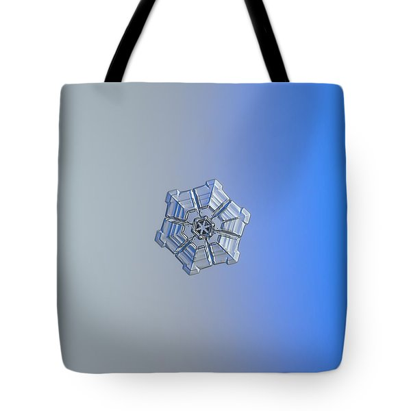 Tote Bag featuring the photograph Snowflake Photo - Winter Fortress by Alexey Kljatov