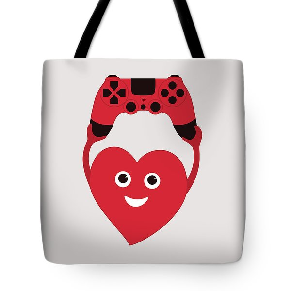 Gamer Heart Tote Bag