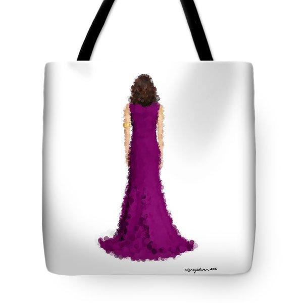 Tote Bag featuring the digital art Amethyst by Nancy Levan