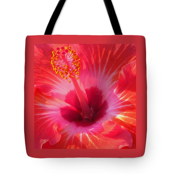 Hibiscus - Shades Of Coral Tote Bag