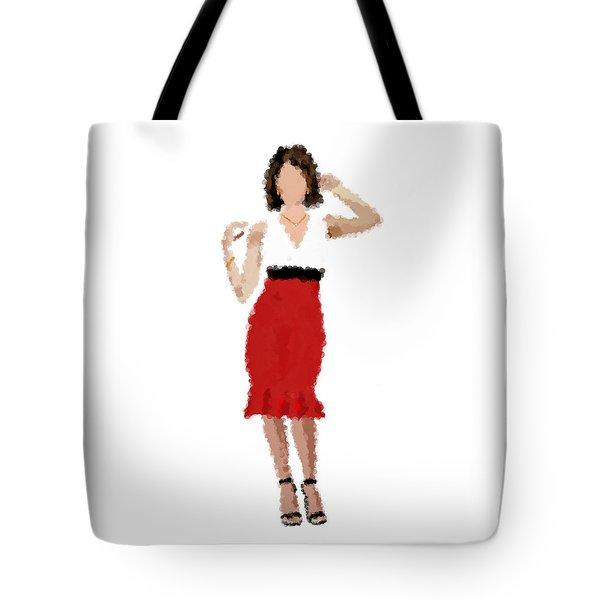 Tote Bag featuring the digital art Ruby by Nancy Levan