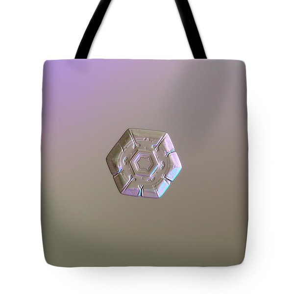 Tote Bag featuring the photograph Snowflake Photo - Frozen Hearts by Alexey Kljatov