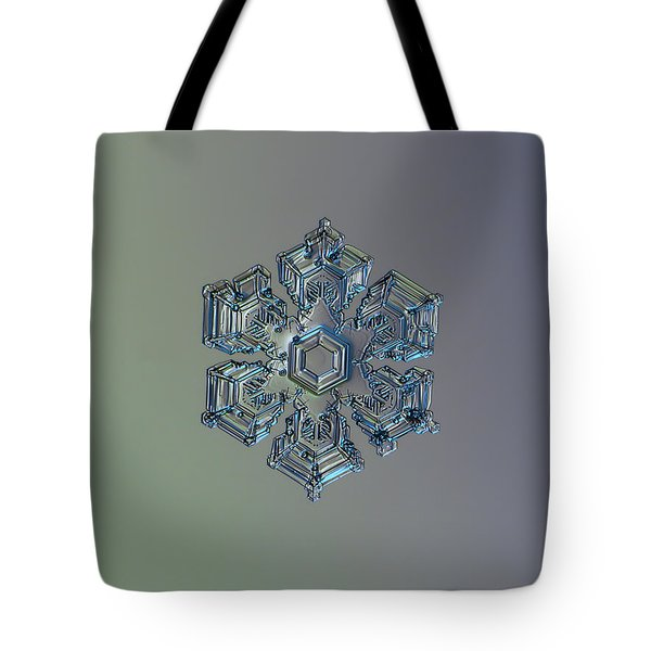 Snowflake Photo - Silver Foil Tote Bag