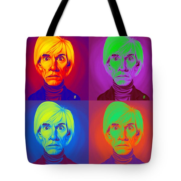 Andy Warhol On Andy Warhol Tote Bag