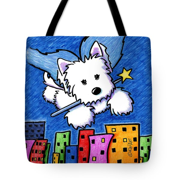 Fairy Princess Westie Tote Bag