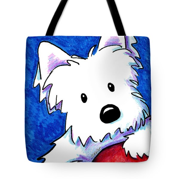 Wendell The Westie Tote Bag