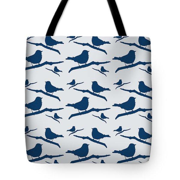 Blue Bird Silhouette Modern Bird Art Tote Bag