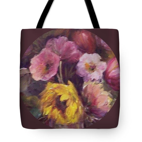 Abundance- Floral Painting Tote Bag