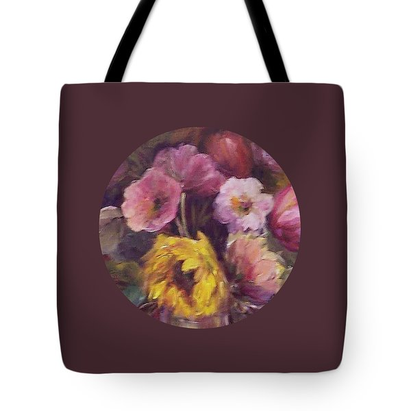 Abundance- Floral Painting Tote Bag