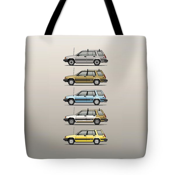 Stack Of Mark's Toyota Tercel Al25 Wagons Tote Bag