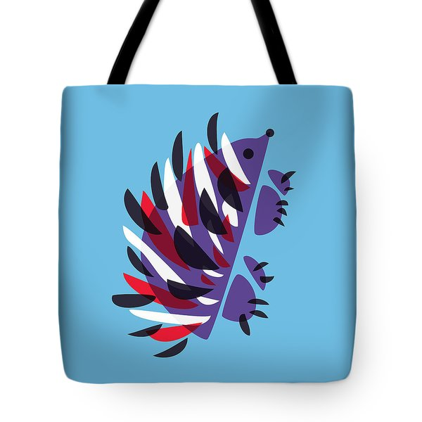 Abstract Colorful Hedgehog Tote Bag