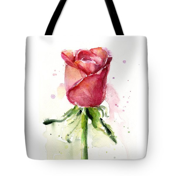 Rose Watercolor Tote Bag