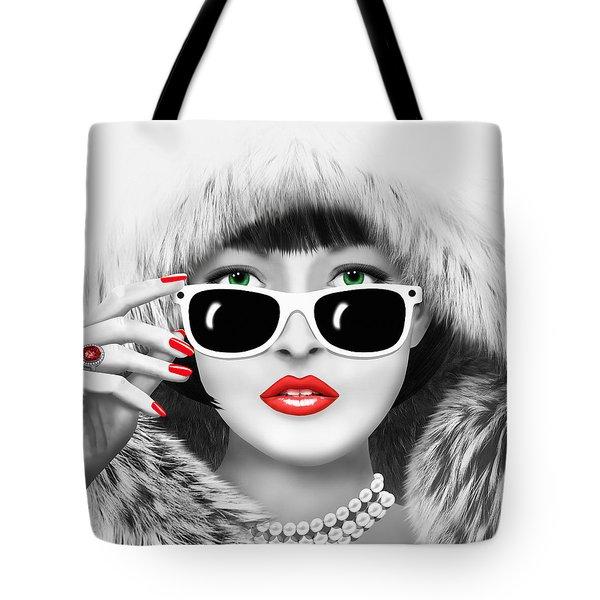 Winter Lady Tote Bag by Monika Juengling