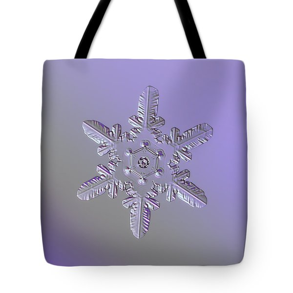 Snowflake Photo - Heart-powered Star Tote Bag by Alexey Kljatov