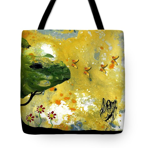 Abstract Acrylic Painting Spring Dance Tote Bag