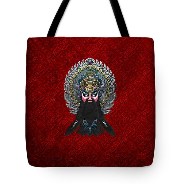 Chinese Masks - Large Masks Series - The Emperor Tote Bag