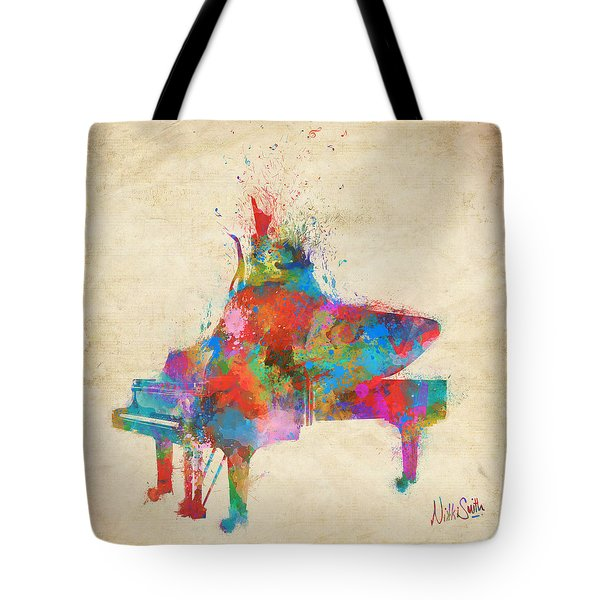 Tote Bag featuring the digital art Music Strikes Fire From The Heart by Nikki Marie Smith
