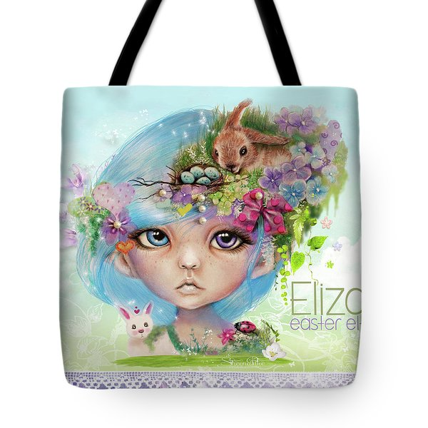 Eliza - Easter Elf - Munhkinz Character Tote Bag by Sheena Pike