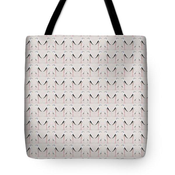 Tall Birds Pattern Tote Bag