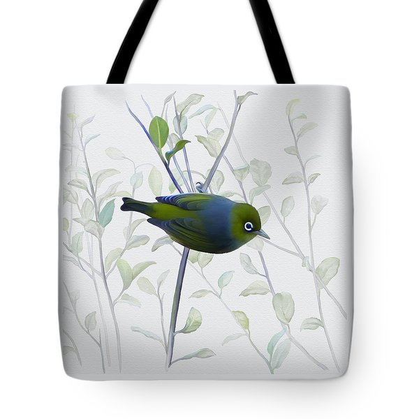 Tote Bag featuring the painting Silvereye by Ivana Westin