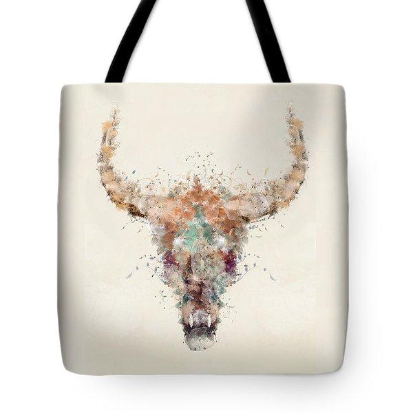 Cow Skull Tote Bag