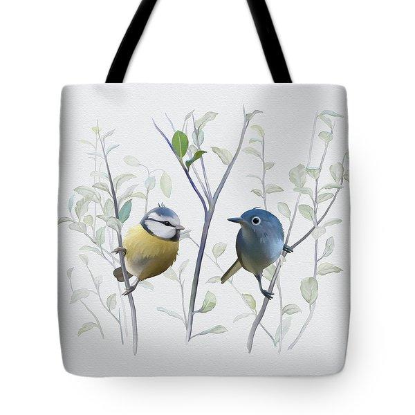Birds In Tree Tote Bag