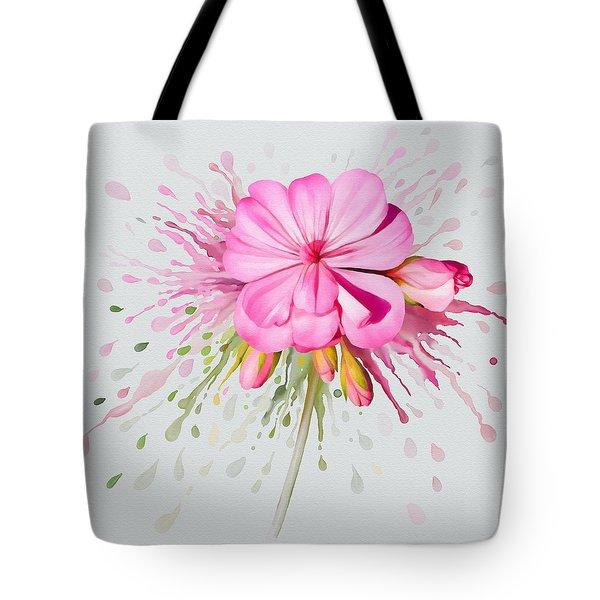 Pink Eruption Tote Bag