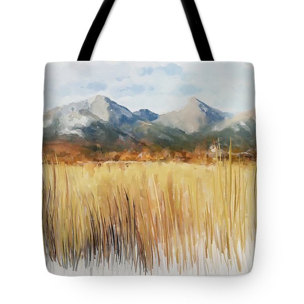 Tote Bag featuring the painting Not Far Away by Ivana Westin