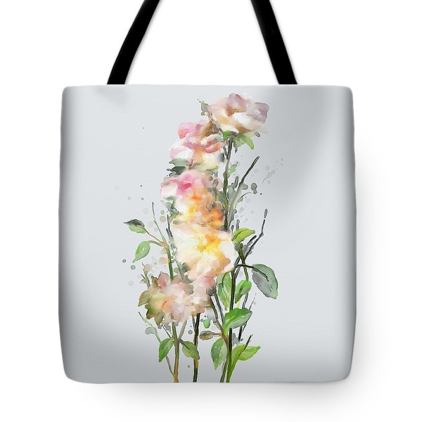 Tote Bag featuring the painting Wild Roses by Ivana Westin