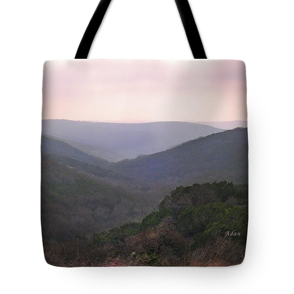Rolling Hill Country Tote Bag by Felipe Adan Lerma