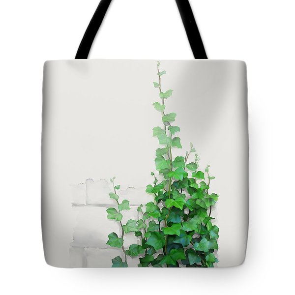Tote Bag featuring the painting Vines By The Wall by Ivana