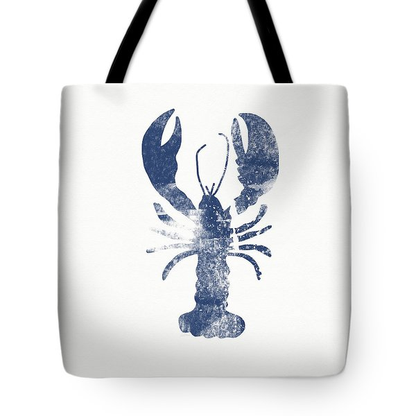 Blue Lobster- Art By Linda Woods Tote Bag by Linda Woods
